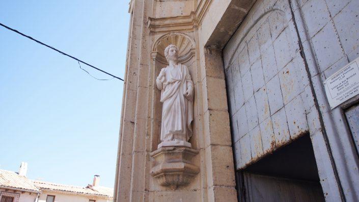 Escultura lateral fachada San Pedro